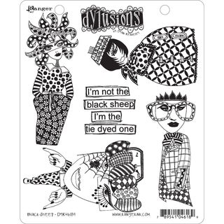 """Dyan Reaveley's Dylusions Cling Stamp Collections 8.5""""X7""""-Black Sheep"""
