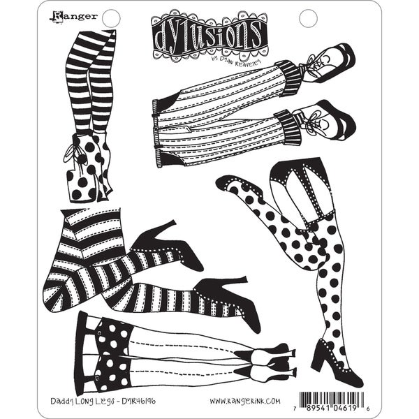 """Dyan Reaveley's Dylusions Cling Stamp Collections 8.5""""X7""""-Daddy Long Legs"""