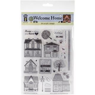 "Hot Off The Press Acrylic Stamps 6""X8"" Sheet-Welcome Home"