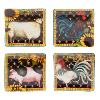 French Barnyard Dinner Plate (Set of 4)