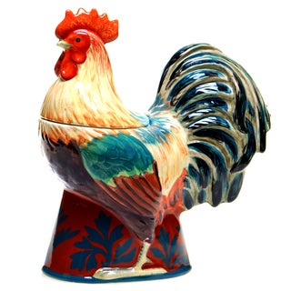 Rustic Rooster 3-D Cookie Jar