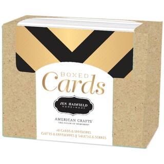 """Pebbles A2 Cards & Envelopes (4.25""""X5.5"""") 40/Pkg-Jen Hadfield-Gold Foil"""