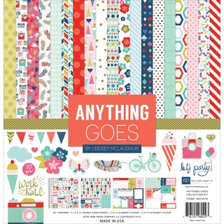 "Echo Park Collection Kit 12""X12""-Anything Goes"