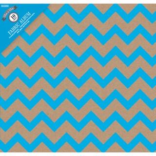 "Colorbok Post Bound Album 12""X12""-Kraft Chevron Blue"