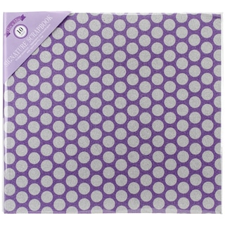 "Colorbok Glitter Post Bound Album 12""X12""-Purple Dot"