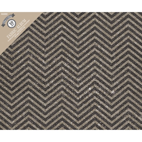 "Colorbok Post Bound Album 12""X12""-Grey Chevron"