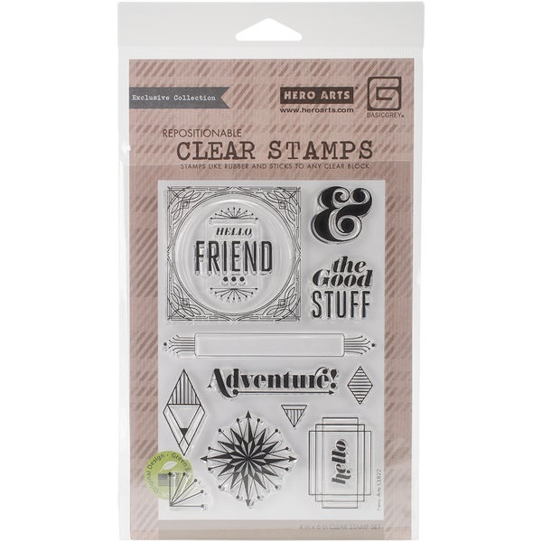 Basic Grey Aurora Clear Stamps By Hero Arts-The Good Stuff