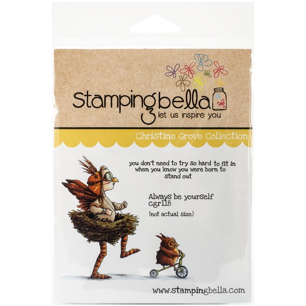 """Stamping Bella Cling Rubber Stamp 3.75""""X5""""-Always Be Yourself"""