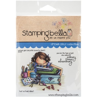 """Stamping Bella Cling Rubber Stamp 3.75""""X5""""-Uptown Girl Callista Loves To Craft"""