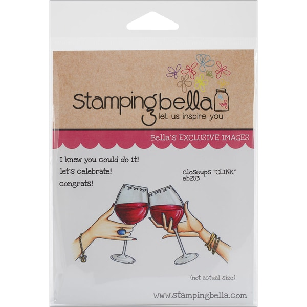 "Stamping Bella Cling Rubber Stamp 3.75""X5""-Closeups ""Clink"""