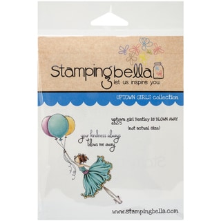 "Stamping Bella Cling Rubber Stamp 3.75""X5""-Uptown Girl Bentley Gets Blown Away"