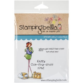 "Stamping Bella Cling Rubber Stamp 3.75""X5""-Uptown Girl Bailey Has A Baby"