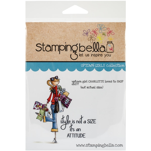 "Stamping Bella Cling Rubber Stamp 3.75""x5"" -Uptown Girl Charlotte Loves To Shop"
