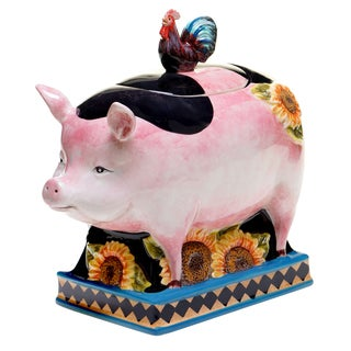 French Barnyard 3-D Cookie Jar