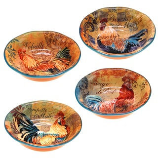 Rustic Rooster Soup/ Cereal Bowls (Set of 4)