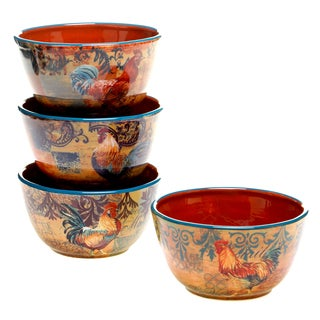 Rustic Rooster Ice Cream Bowl (Set of 4)