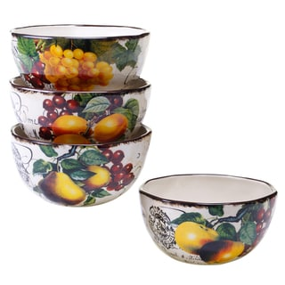 Botanical Fruit Ice Cream Bowl (Set of 4)