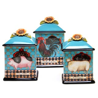 French Barnyard Canister (Set of 3)