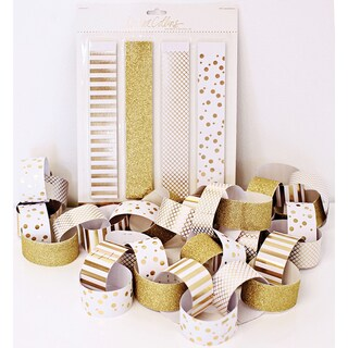 Studio Gold Foiled Banner Kit 40/Pc-Paper Chain
