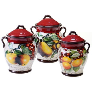 Botanical Fruit Canister (Set of 3)
