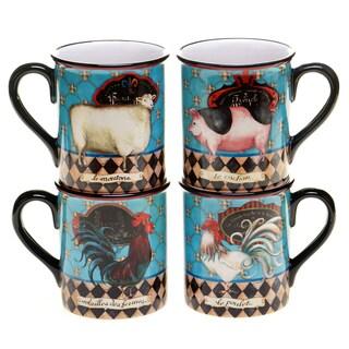 French Barnyard 16-ounce Mug (Set of 4)