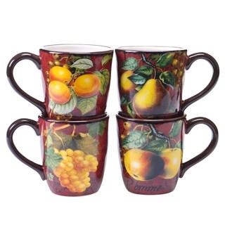 Botanical Fruit 18-ounce Mug (Set of 4)