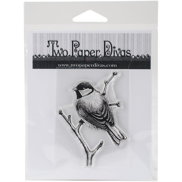 "Two Paper Divas Clear Stamps 6""X4.5""-Sing Like A Bird"