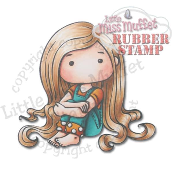 "Little Miss Muffet Cling Stamp 3""X2.75""-Lottie"
