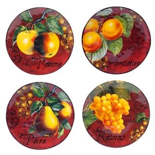 Botanical Fruit 8.75-inch Salad/ Dessert Plate (Set of 4)