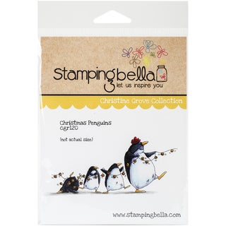 "Stamping Bella Cling Rubber Stamp 3.75""X5""-Christmas Penguins"
