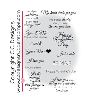 "Amyr's Sentiments Cling Stamps 4""X6""-Elegant Valentine"