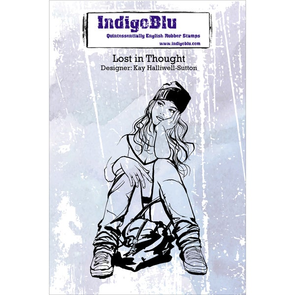Indigoblu Cling Mounted Stamp-Lost In Thought