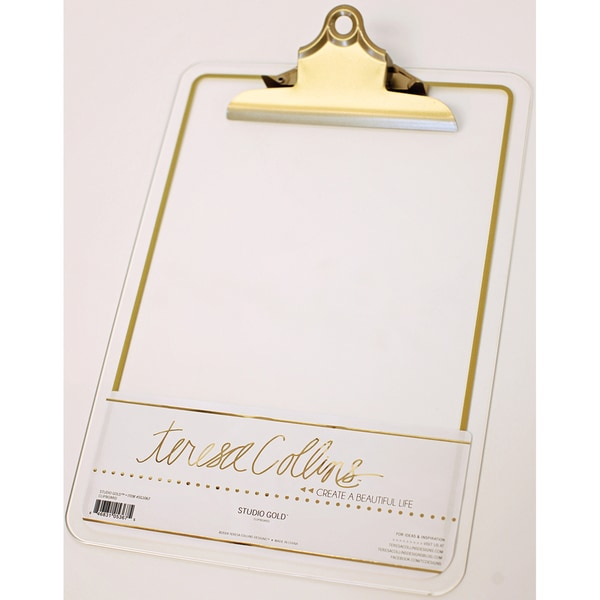 Studio Gold Acrylic Clipboard-