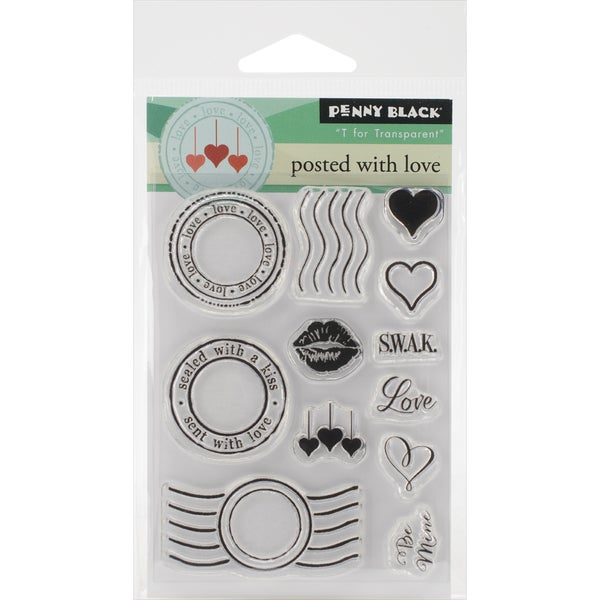 "Penny Black Clear Stamps 3""X4"" Sheet-Posted W/Love"
