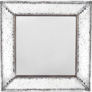 Weathered Silvertone 18-inch Wall Mirror