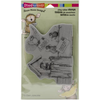 """Stampendous House Mouse Cling Rubber Stamp 4""""X6"""" Sheet-Air Mail"""
