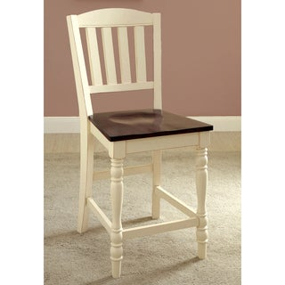 Furniture of America Bethannie Cottage Style 2-Tone Counter Height Chair (Set of 2)