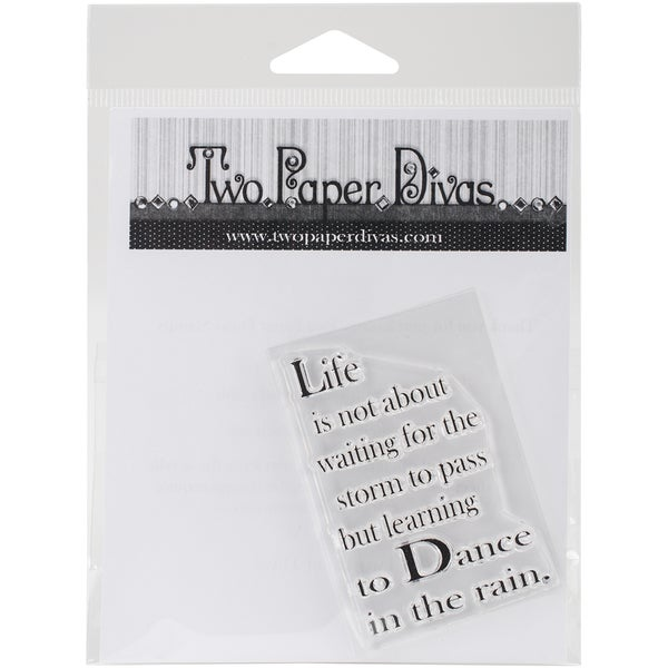 "Two Paper Divas Clear Stamps 6""X4.5""-Learn To Dance"