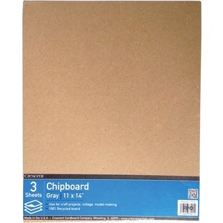 """Crescent Recycled Chipboard Value Pack 3/Pkg-11""""X14"""""""