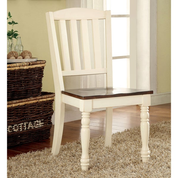 Furniture of America Bethannie Cottage Style 2 Tone Dining  : Furniture of America Bethannie Cottage Style 2 Tone Dining Chair Set of 2 a5741a8e 57e6 4d39 9102 13381d1d0eb2600 from www.overstock.com size 600 x 600 jpeg 45kB