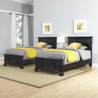 Home Styles Bedford Two Twin Beds and Night Stand