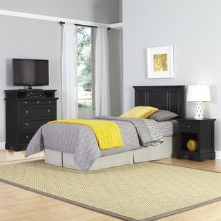 Bedford Twin Headboard, Night Stand, and Media Chest