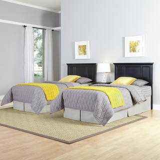 Bedford Two Twin Headboards and Night Stand