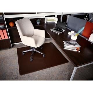 Jani Leather Rectangular Mocha 3.6 x 4.3 ft. Chair Mat