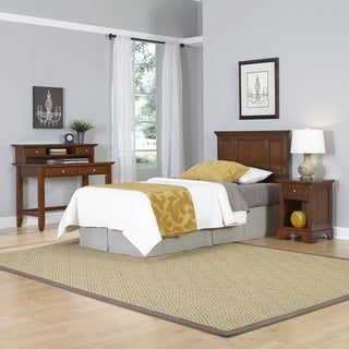 Chesapeake Twin Headboard, Night Stand, and Student Desk with Hutch