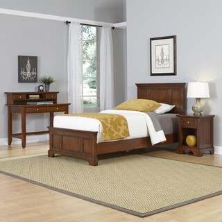 Home Styles Chesapeake Twin Bed, Night Stand, and Student Desk with Hutch