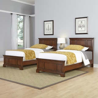 Chesapeake Two Twin Beds and Night Stand