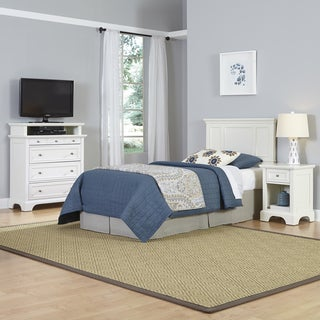 Naples Twin Headboard, Night Stand, and Media Chest