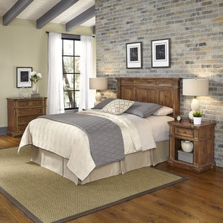 Home Styles Americana Vintage Headboard, Two Night Stands, and Chest
