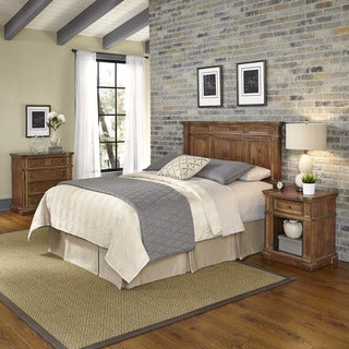 Home Styles Americana Vintage Headboard, Night Stand, and Chest